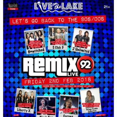 WIN 2 TICKETS TO REMIX 92 + A NIGHT'S STAY AT JUMEIRAH CREEKSIDE HOTEL!