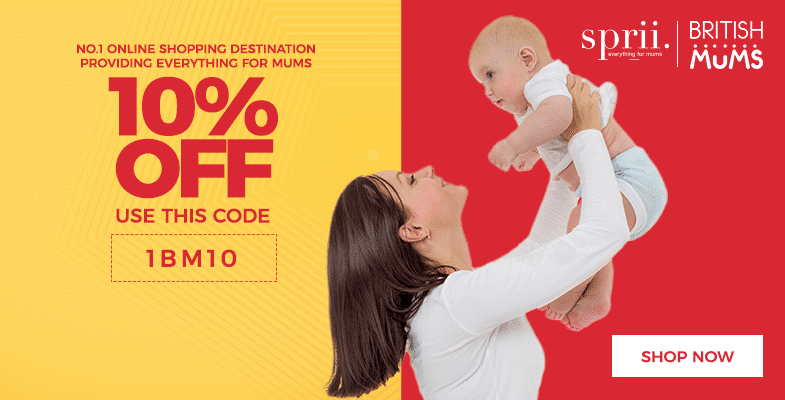 British Mums Partners With Mums Shopping Site Sprii to Offer 10% Off EVERYTHING all year round!