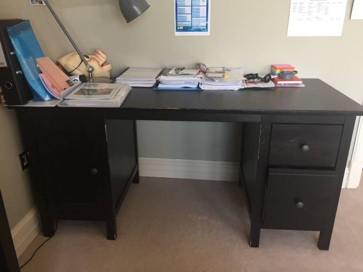 Ikea Hemnes Desk Black Brown