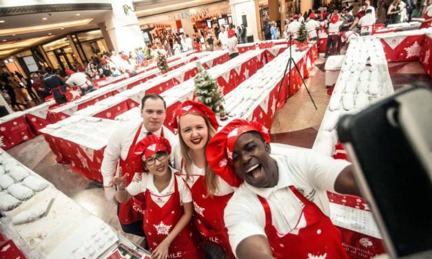 Buy a piece of the UAE's HUGEST Stollen cake for charity at Mall of the Emirates