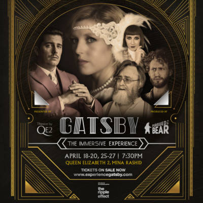 "WIN ALL INCLUSIVE TICKETS TO ""GATSBY – THE IMMERSIVE EXPERIENCE"" ON THE QE2!"