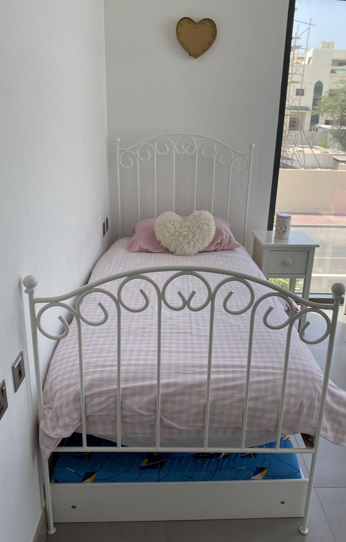 Girls White Wrought Iron Single Bed British Mums