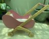 Classic wooden toy pushchair pink