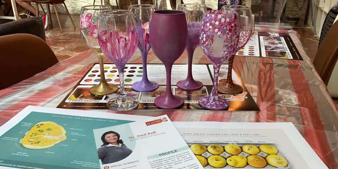 British Mums Wine Glass Painting & Breast Cancer Awareness Morning